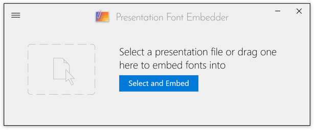 Presentation Font Embedder for Windows screenshot