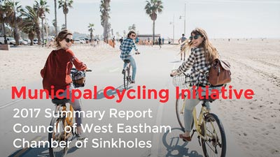 Sample slide - Municipal Cycling Initiative, 2016 Summary Report, Council of West Eastham, Chamber of Sinkholes