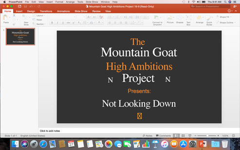 PowerPoint screenshot with system default fonts